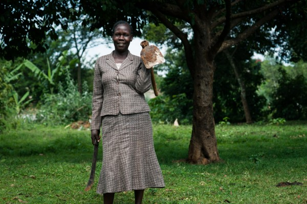 Anne Wafula is a farmer in Kenya, and is part of the One Acre Fund network.  Photo: Hailey Tucker
